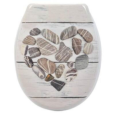 Design Nature Printed Duroplast Oval Toilet Seat
