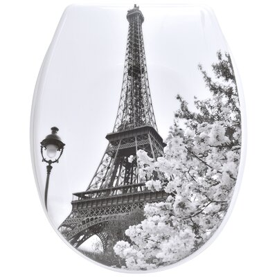 Paris City Printed Duroplast Oval Toilet Seat