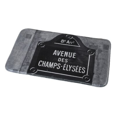 Paris City Printed Microfiber Bath Rug