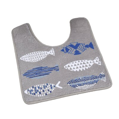 Nautical Pedestal Mat Toilet Contour Mat
