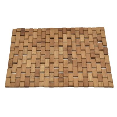 Bamboo Slats Roll Up Foldable Bath Rug Color: Natural Brown