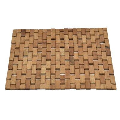 Bamboo Slats Roll Up Foldable Bath Rug Color: Natural Brown