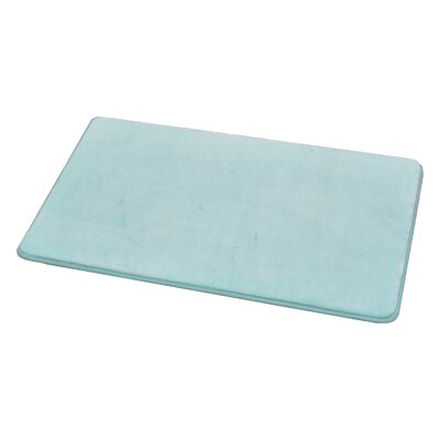Rectangular Microfiber Bath Rug Color: Aqua Blue