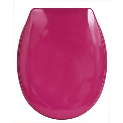 Slow-Close Quiet Oval Toilet Seat Finish: Pink