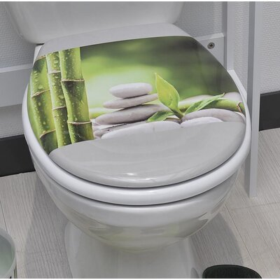 Zen and Co Printed Duroplast Oval Toilet Seat