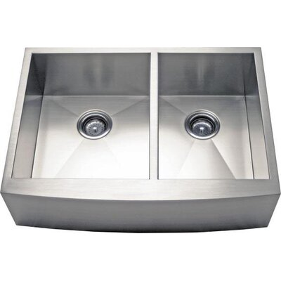 30 x 21.63 Apron Farm 60/40 Double Bowl Kitchen Sink