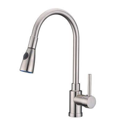 Single Handle Pull Standard Kitchen Faucet Finish: Brushed Chrome