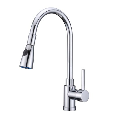 Single Handle Pull Standard Kitchen Faucet Finish: Chrome