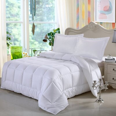 3 Piece Reversible Comforter Set Size: Twin