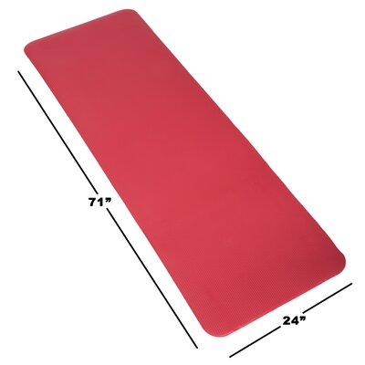 Non-Slip Foam Camping Sleep Mat Color: Red