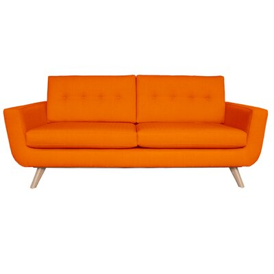 Callie Sofa Upholstery Color: Saffron