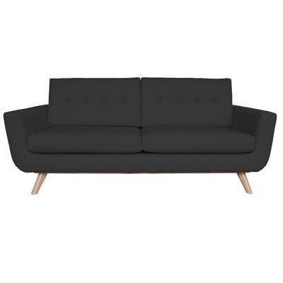 Callie Sofa Upholstery Color: Black