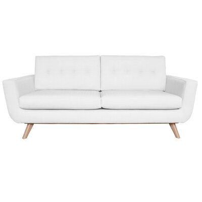 Callie Sofa Upholstery Color: White
