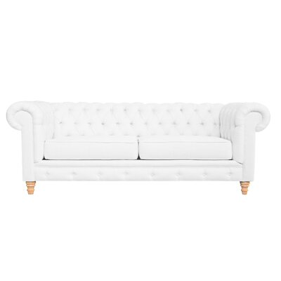 Cleveland Tufted Chesterfield Sofa Finish: Wales White