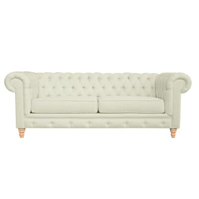 Cleveland Tufted Chesterfield Sofa Finish: Wales Beach