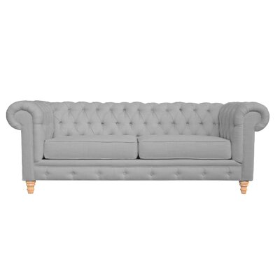 Cleveland Tufted Chesterfield Sofa Finish: Dolphin