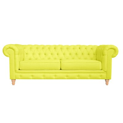 Cleveland Tufted Chesterfield Sofa Finish: Sunny