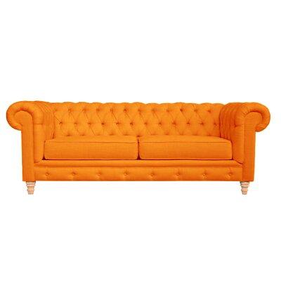 Cleveland Tufted Chesterfield Sofa Finish: Saffron