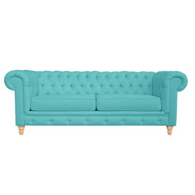 Cleveland Tufted Sofa Finish: Laguna