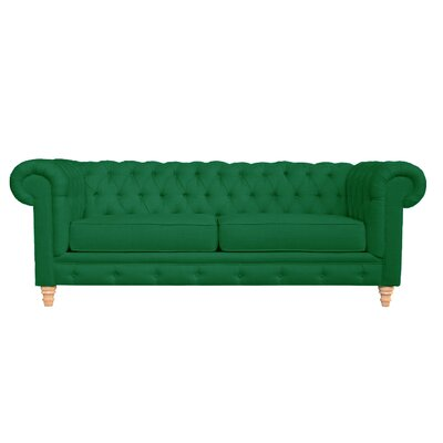Cleveland Tufted Chesterfield Sofa Finish: Emerald