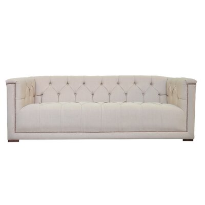 Lancaster Tufted Chesterfield Sofa Upholstery: Ireland Wheat