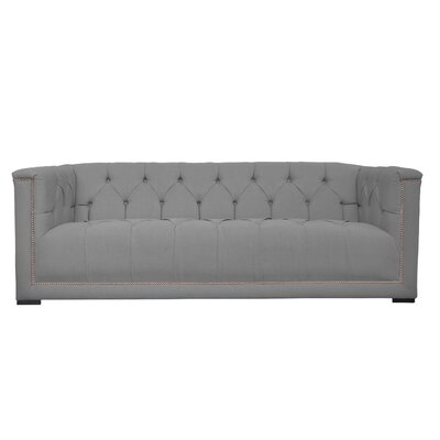 Lancaster Tufted Chesterfield Sofa Upholstery: Ireland Smoke