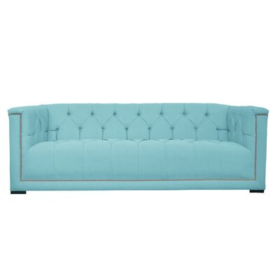 Lancaster Tufted Chesterfield Sofa Upholstery: Klein Laguna