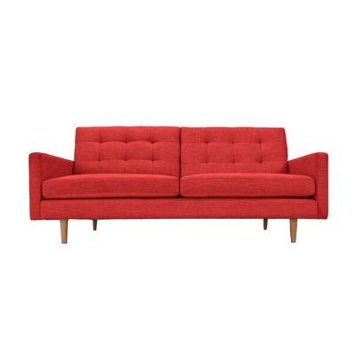 Lawrence Sofa Upholstery: Red