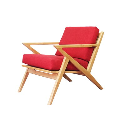 Ace Armchair Color: Red