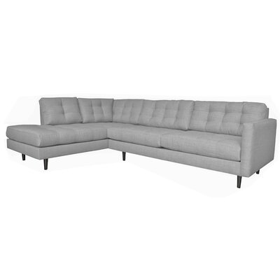 Olivia Reversible Sectional Upholstery: Dolphin