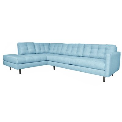 Olivia Reversible Sectional Upholstery: Bluebird