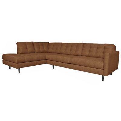 Olivia Modular Sectional Upholstery: Chocolate