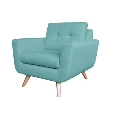 Callie Modern Armchair Upholstery : Light Blue