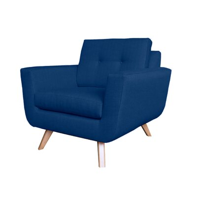 Callie Modern Armchair Upholstery : Dark Blue