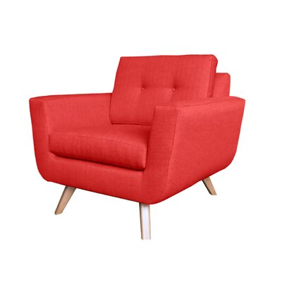 Callie Modern Armchair Upholstery : Red