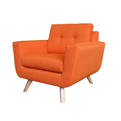 Callie Modern Armchair Upholstery : Orange