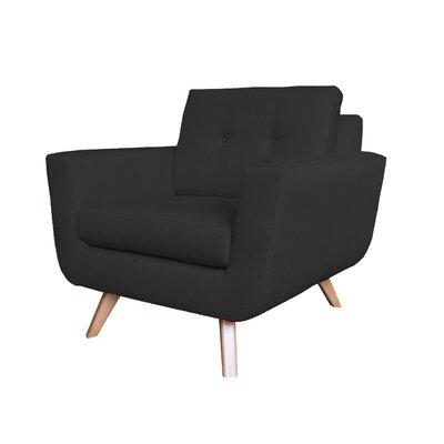 Callie Modern Armchair Upholstery : Black