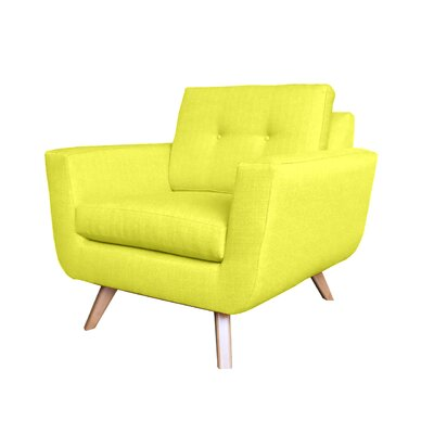 Callie Modern Arm Chair Upholstery : Yellow