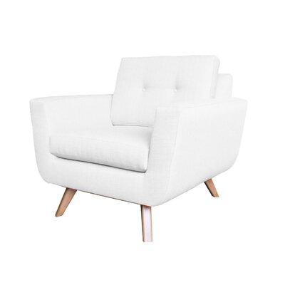 Callie Modern Armchair Upholstery : White