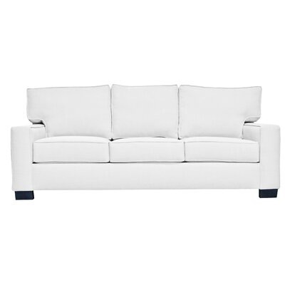 Fullerton Square Arm Sofa Upholstery : White