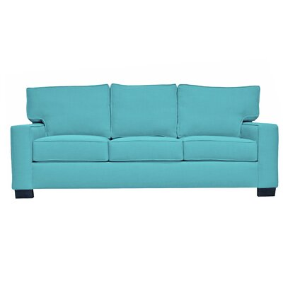 Fullerton Square Arm Sofa Upholstery : Blue
