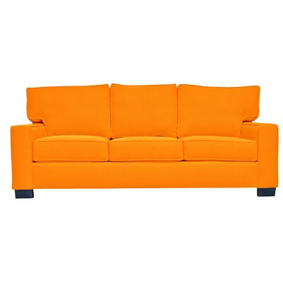 Fullerton Square Arm Sofa Upholstery : Orange