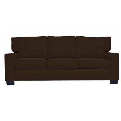 Fullerton Square Arm Sofa Upholstery : Brown