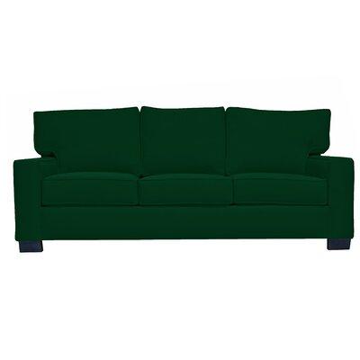 Fullerton Square Arm Sofa Upholstery : Green