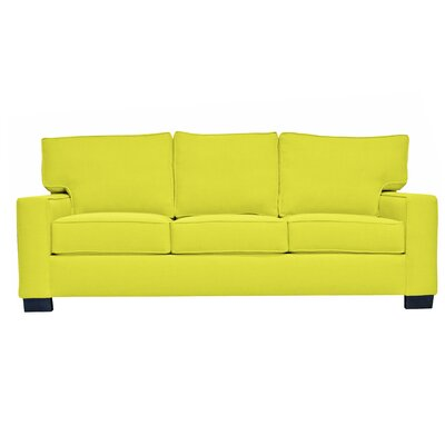 Fullerton Square Arm Sofa Upholstery : Yellow