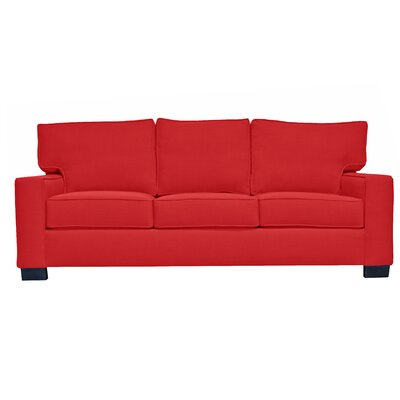 Fullerton Square Arm Sofa Upholstery : Red