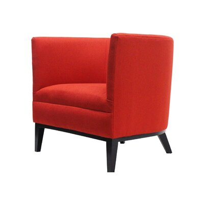 Victoria Round Barrel Chair Upholstery : Red