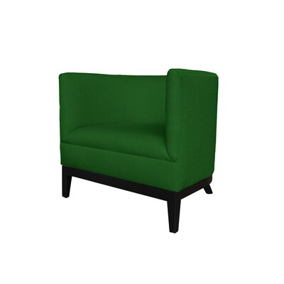Victoria Round Barrel Chair Upholstery : Green