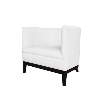 Victoria Barrel Chair Body Fabric: Klein White