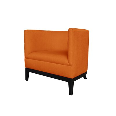 Victoria Round Barrel Chair Upholstery : Orange